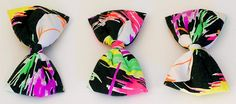 80s neon hair bows (for 'bow-heads')