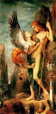 Edipo y la Esfinge. Gustave Moreau.