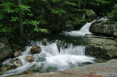 Katahdin Stream Falls, Baxter State Park, Maine    Katahdin Stream Falls can be found along the Hunt Trail in Baxter State Park, Maine.