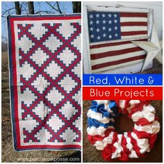 red white blue projects to sew for the 4th of july | patchworkposse