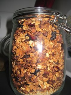 Granola made with applesauce instead of oil.