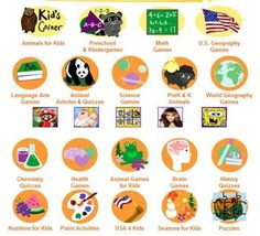 Free learning games in math, science, geography, vocabulary, and more.