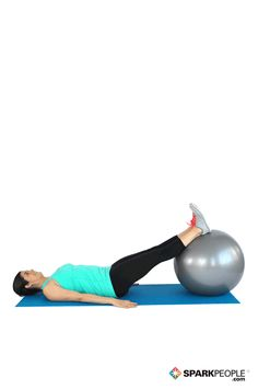 Work your hamstrings and glutes with a stability ball! | via @SparkPeople #fitness #workout #exercise