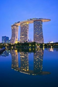 Marina Bay Sans Hotel.  I would love to live in Singapore <3