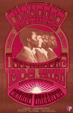 Grande Ballroom 9/1 & 2/67 Artist:  Gary Grimshaw     Performers:  Chambers Brothers  MC5  Thyme