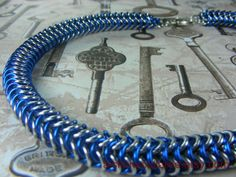BDSM Slave Collar Roundmaille Chainmaille by aislinnscollared, $75.00