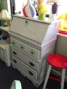 Shabby Chic Dining Table With 4 Chair Flea Market Finds