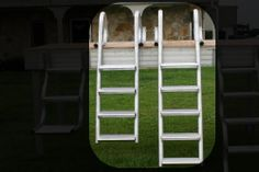 4 and 5 Step Ladders: Our standard dock ladder has oversized rungs for sturdy footing to provide a safe, secure and comfortable access point for exiting or entering the water. And no other ladder available is as durable nor is as finished looking to complement any quality dock. Strength: Crafted from beefy, marine-grade aluminum — the heaviest duty and longest lasting ladders you'll ever own.