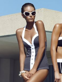 Jets Classique Spot Swimsuit-    Not that I want you to wear! But- just interesting. Hmmm:)