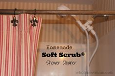 This Homemade Shower Cleaner works like Soft Scrub®. It cleans great but doesn't have all the chemical nasties -- and costs a LOT less!
