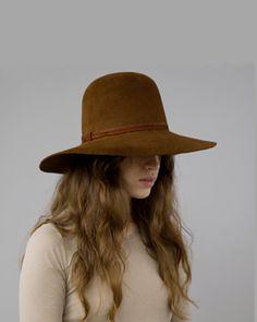 brown clyde hat