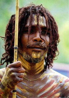 Australia   'Ready to dance'  Aboriginal man   © Lillian Okorn