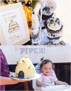 Bumblebee Birthday Party via Kara's Party Ideas KarasPartyIdeas.com #BeeParty #Bumblebee #FirstBirthdayParty #PartyIdeas #PartySupplies #Bab...