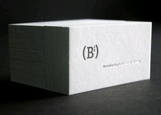 simple logo and letterpress