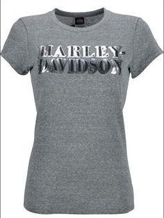 HARLEY-DAVIDSON® WOMENS SCREAMIN EAGLE LUREX FOIL TEE HARLLT0091