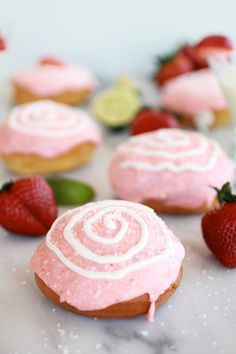 Strawberry Margarita Cream Filled Donuts
