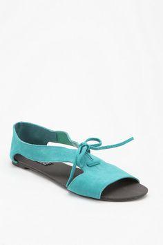 Deena & Ozzy Suede Open Side Sandal