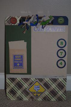 Custom Boy Scout Clipboard