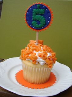 Cupcake Toppers  Wool