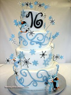 Winter Wonderland Cake - So this is what Tyra wants for her Birthday, I'm going to do my best!