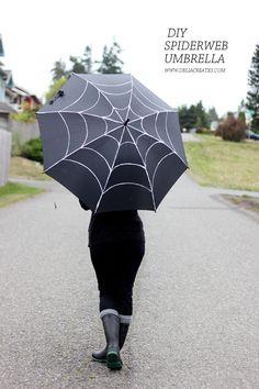 DIY Spiderweb Umbrella (Delia Creates)