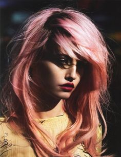 messy pink punk hair
