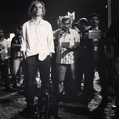 Protest icon. Erdem Gündüz stands in Taksim Square for over 5 hours. June 17, 2013.