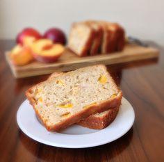 Peach Yogurt Bread with Cinnamon | chezcateylou.com