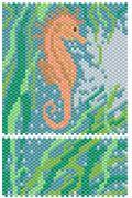 SEAHORSE Peyote Beading Pattern by Pinjinsa at Bead-Patterns.com