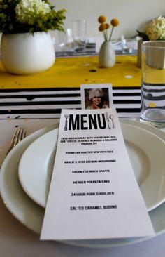 dinner party menu