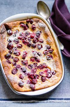 Cranberry Clafoutis.