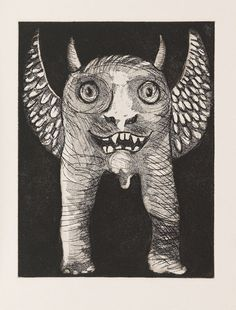 illustration from The Book of Imaginary Beings by J L Borges 1973)