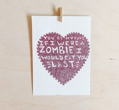Zombie Mother's Day Card. Ha!