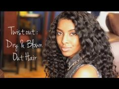 Dry TwistOut: Blown Out Hair...so cute!
