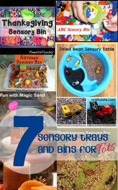 7 Simple Sensory Bins and Trays for Tots