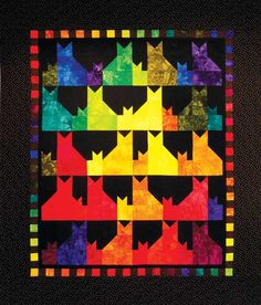 Cat quilt! Ima likin this one a lot. Shared by www.nwquiltingexpo.com @nwquiltingexpo #nwqe #quilting