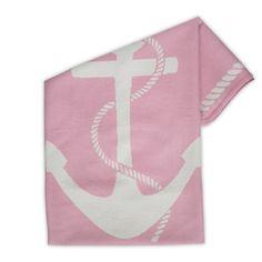 Jonathan Adler Junior Anchor Blanket #pink #nautical #nursery #blanket #baby