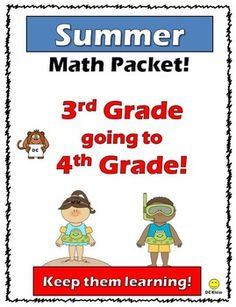 Summer Math Packet-3rd going to 4th