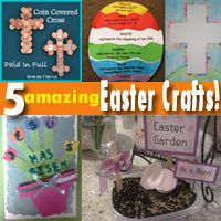 5 Amazing Easter crafts!  I'm totally using these Easter crafts with my kids this Easter!