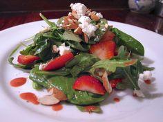 Baby Arugula & Spinach Salad with Raspberry Vinaigrette