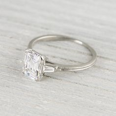 1.41 Carat Vintage Tiffany & Co. Emerald Cut Engagement Ring | Erstwhile Jewelry Co.