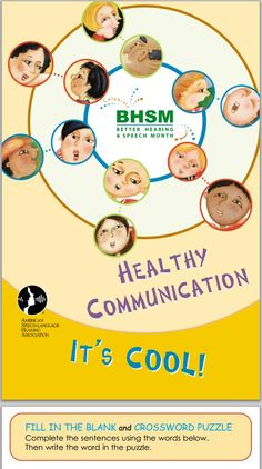 Better Hearing & Speech Month activity book. More free resources at http://www.asha.org/bhsm/ResourcesPublic.htm