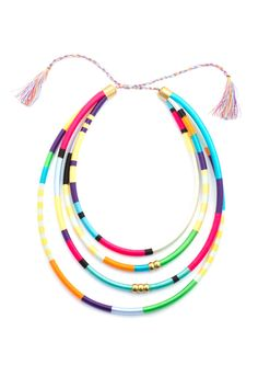 Statement Bib necklace four strand, Holst and Lee inspired four strand necklace, Bib Necklace, Statment Necklace