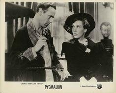 Leslie Howard and Wendy Hiller. Pygmalion, 1938
