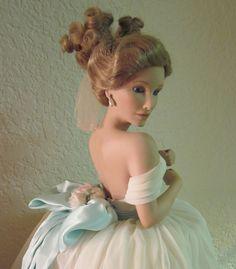 Vintage-Ashton Drake-Ashton Drake Galleries-Porcelain Doll-Porcelain Wedding Dolls. $78.00, via Etsy.
