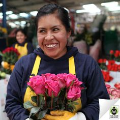 Remember: Behind every bouquet, there is a person. Will you treat them fairly? #FairTrade #flowers #roses