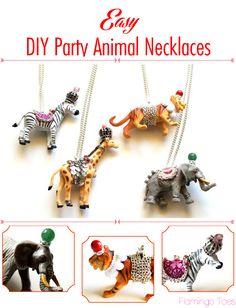 Easy DIY Party Animal Necklaces