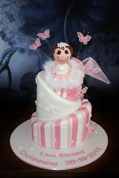 Christening Angel Cake
