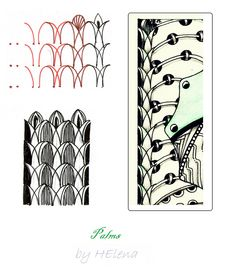 (2012-05) Palms zentangle pattern by Helena