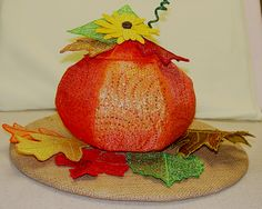 another Pumpkin made by one of my customers using Organza instead of the Mylar.